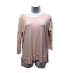 Bordeaux   Light Pink Sweater Shirt Lightweight